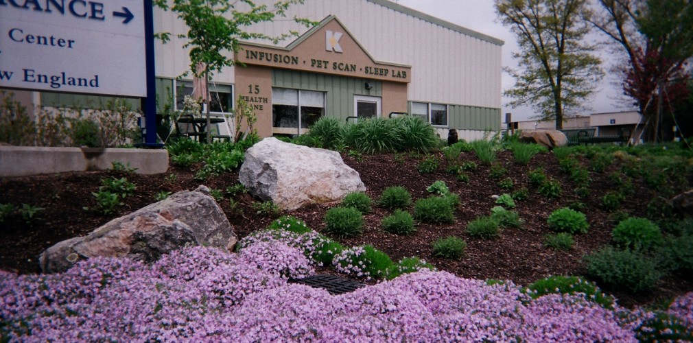 Embankment To Kent's PETScan And Infusion Center Serenity Garden In Early Spring.