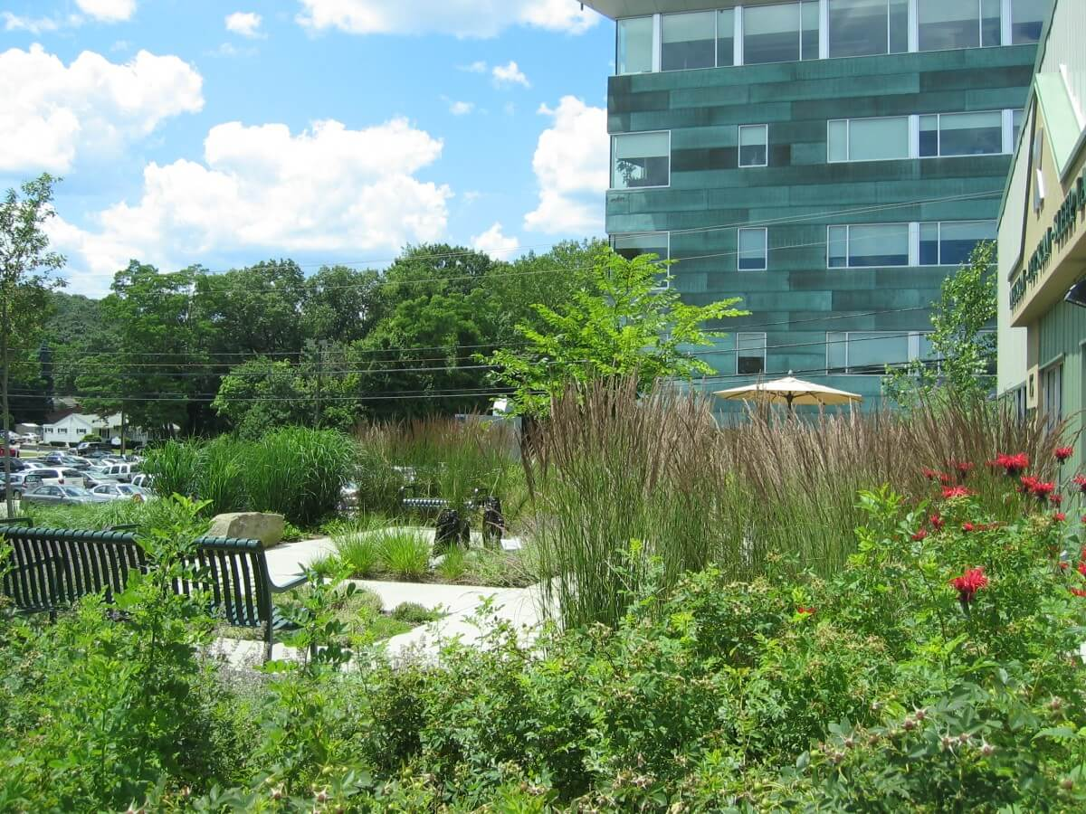 Located at Kent Hospital's PETScan and Infusion Center, the healing Serenity Garden provides intimate solace and peace to patients and their families.