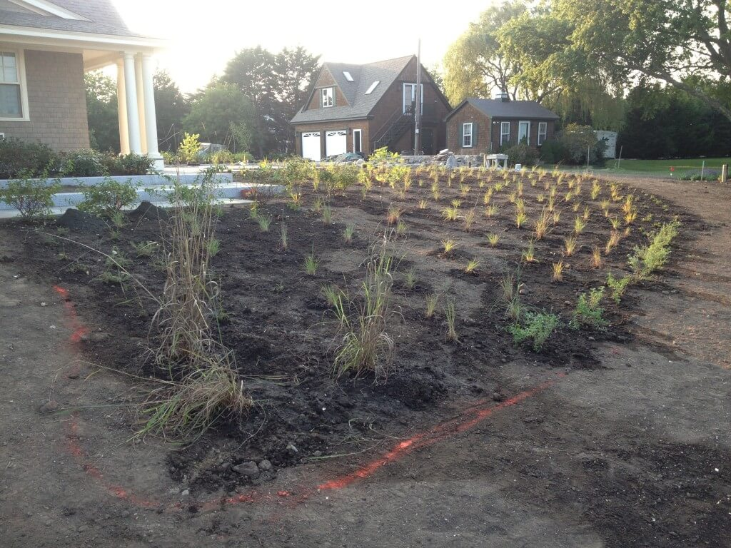 Charlestown landscape installation during wellnesscapes for Landscape design ri