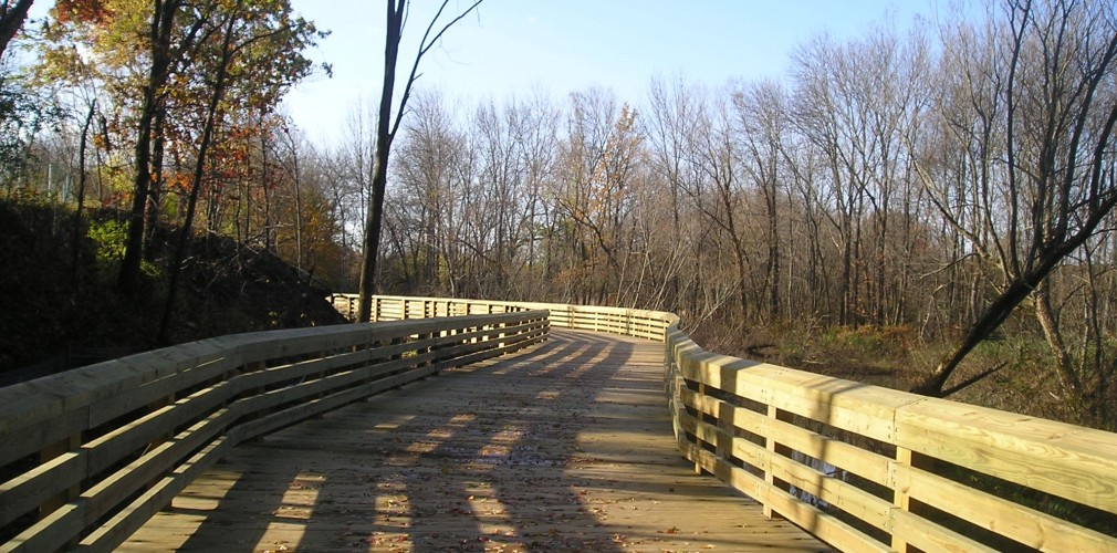 West Lexington's Greenway Project Seeks To Link Existing Trails And Sensitively Expand Natural Area Access Through Boardwalks Such As Existing Structure Shown Here.