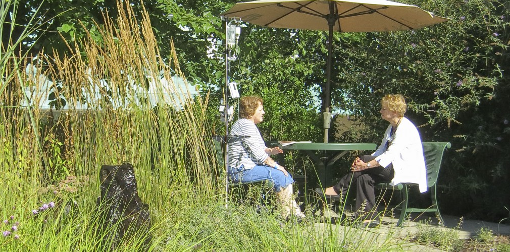 Kent's Serenity Garden Provides A Peaceful, Intimate, Healthful Setting For Patient-staff Interaction.