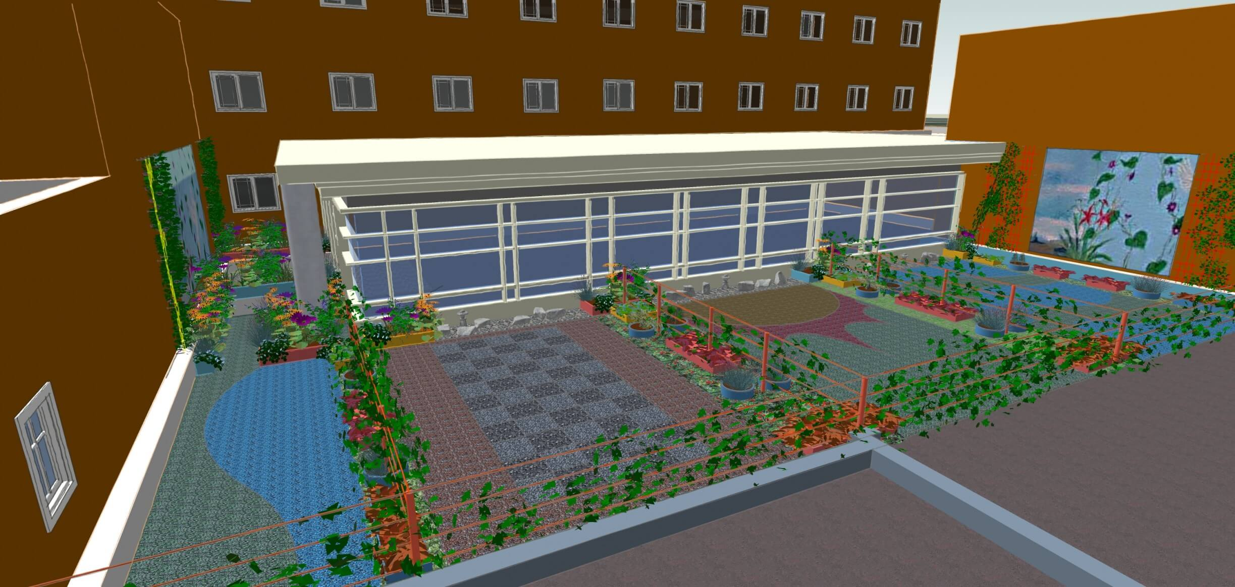Landscape Design Northampton Ma Cooley Dickinson Hospital Rooftop Enhancements