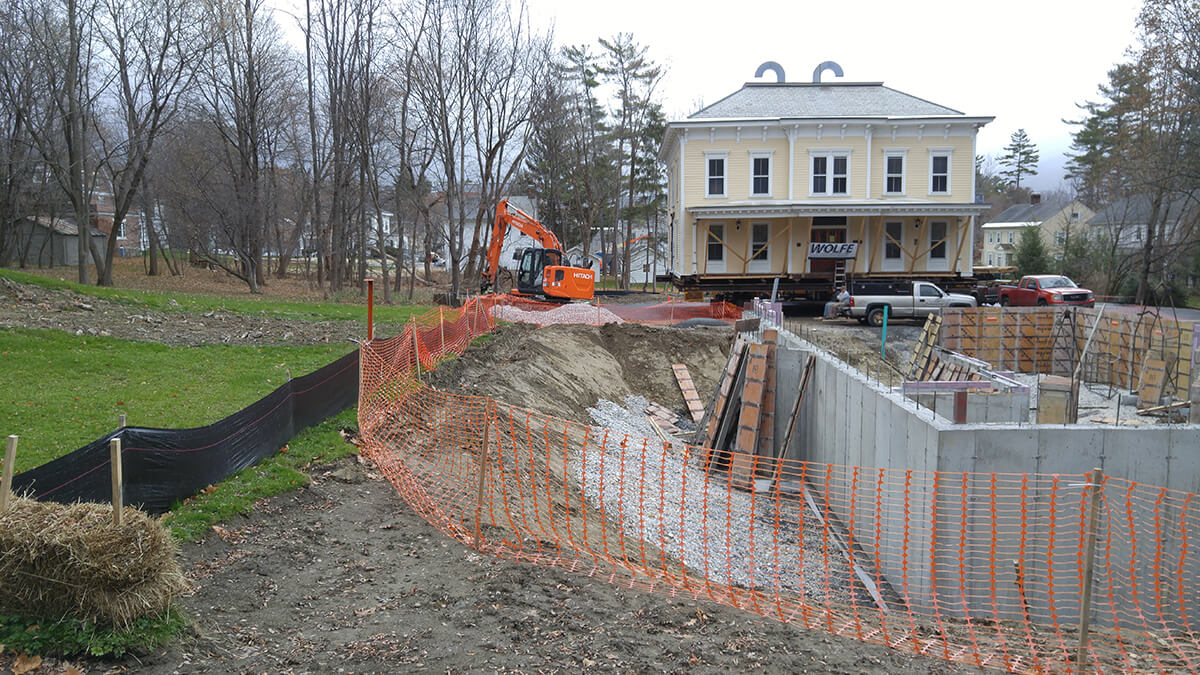 Landscape Design – Williamstown, MA – Williams College: Miller House Relocation