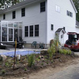 Landscape Design – Northampton, MA – Rain Garden Patio