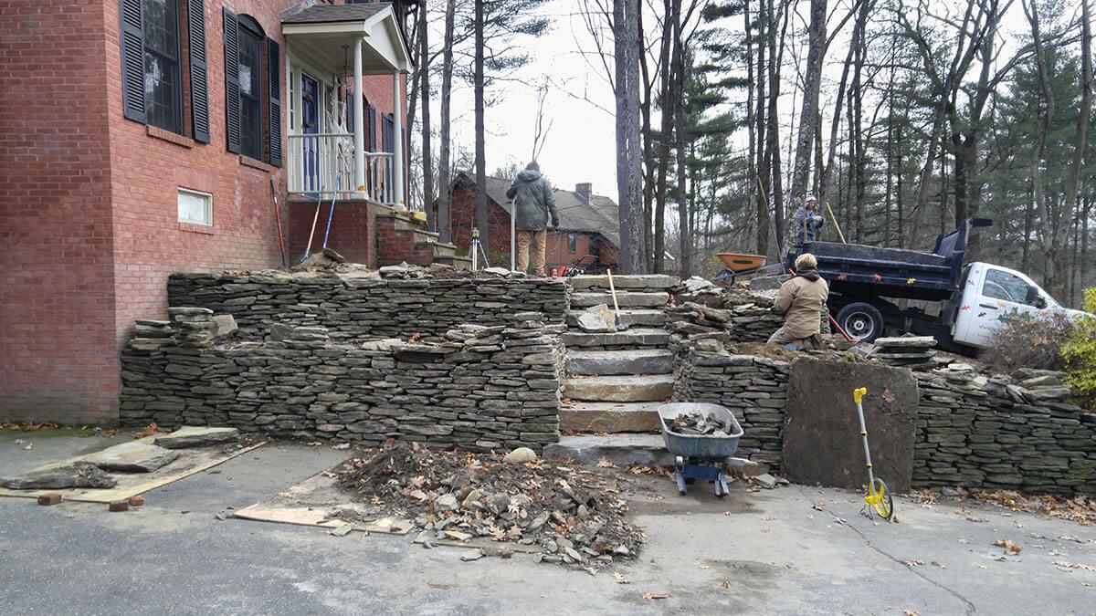 Landscape Design – Northampton, MA – Scenic Patio Stonework